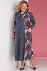 Платье Новелла Шарм 3079-Т серый с терракотом