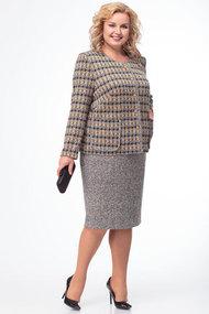 Комплект юбочный TricoTex Style 1855 серый с горчицей