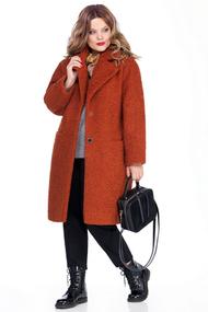 Пальто TEZA 259 оранжевые тона