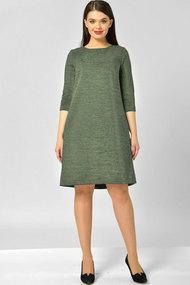 Платье Elga 01-582.1 олива