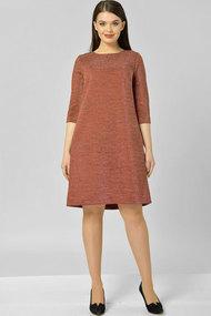 Платье Elga 01-582.1 терракот