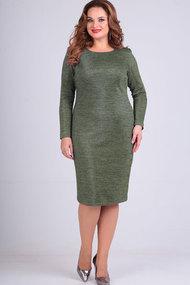 Платье Elga 01-640 олива