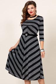 Платье Vittoria Queen 10443 серебро с черным