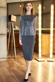Платье Фантазия Мод 3611 серые тона