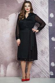 Платье Белтрикотаж 4264 черный с красным