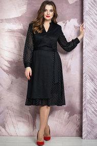 Платье Белтрикотаж 4264 черный с серебром