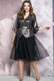 Комплект юбочный Белтрикотаж 4267 серебро с черным