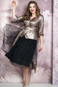 Комплект юбочный Белтрикотаж 4267 золотой с черным