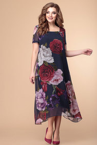 Платье Romanovich style 1-1332 крупные пионы
