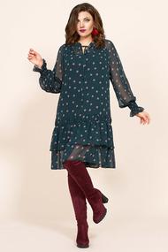 Платье Мублиз 418 зеленый