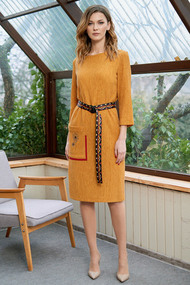 Платье Фантазия Мод 3635 горчица