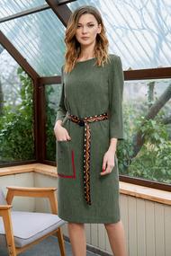 Платье Фантазия Мод 3635 хаки