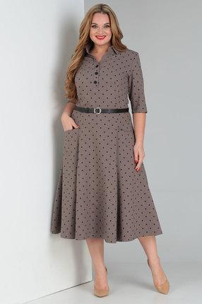 Платье Vasalale 685 коричневые тона