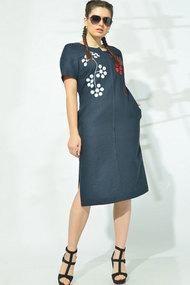 Платье MALI 419-046 тёмно-синий