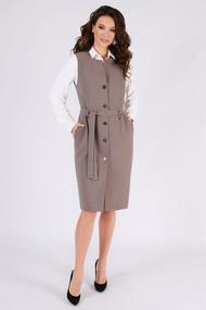 Платье Teffi style 1460 коричневые тона