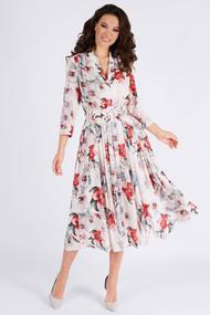 Платье Teffi style 1425/1 красно-белый