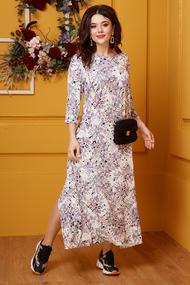 Платье Anastasia 398.1 бежевые тона