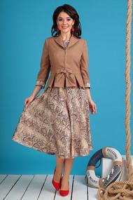 Комплект плательный Мода-Юрс 2513 бежевый