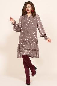 Платье Мублиз 418 бежевые тона