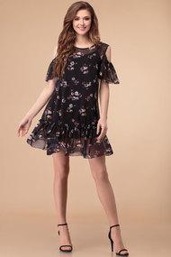 Платье Svetlana Style 1371 черный с цветами