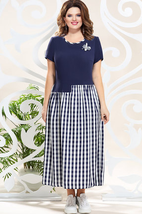 Платье Mira Fashion 4795 тёмно-синий