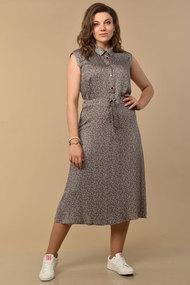 Платье Lady Style Classic 1617/1 графитовый в мелкие цветочки