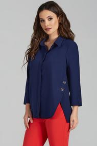 Блузка Teffi style 1504 темно-синий