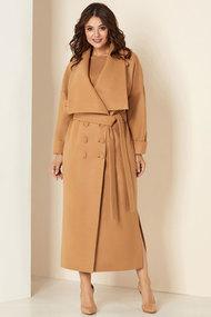 Пальто Andrea Style 00273 беж
