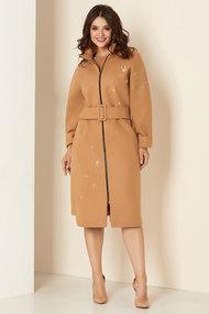 Пальто Andrea Style 00274 бежевые тона