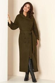Пальто Andrea Style 00274 хаки