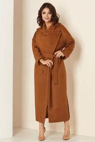 Пальто Andrea Style 00274 коричневые тона