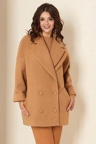 Пальто Andrea Style 00276 бежевые тона
