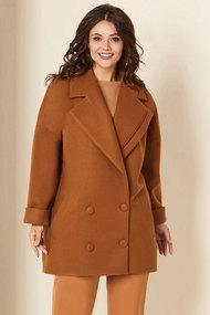 Пальто Andrea Style 00276 коричневые тона