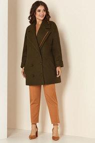 Пальто Andrea Style 00276 хаки