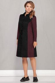 Платье Ivelta plus 1710 чёрный с баклажаном