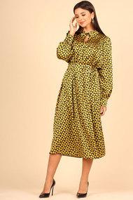 Платье Faufilure с1106 желтый с черным