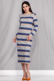 Платье Ivelta plus 1718 сине-серые тона