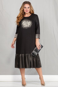 Платье Ivelta plus 1670 черный с золотом