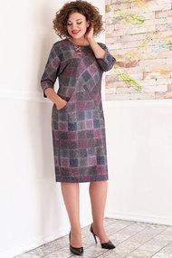 Платье Avanti Erika 886-13 фуксия с коричневым