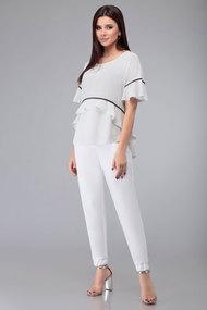 Комплект брючный Denissa Fashion 1339 бело-молочный