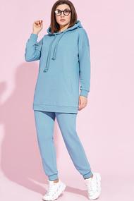 Спортивный костюм Милора-Стиль 857 голубые тона
