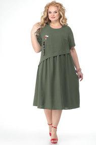 Платье Algranda 3690-2 олива