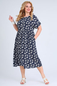 Платье SOVITA 2108 синие тона