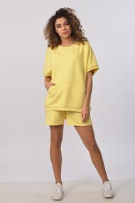 Комплект с шортами Диамант 1656 желтый