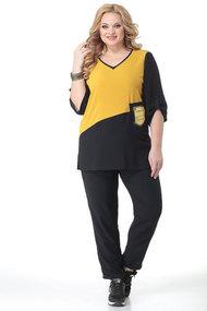 Комплект брючный Algranda 3702 черный с желтым