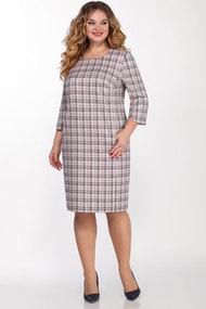 Платье LaKona Пл24 серый с пудровым