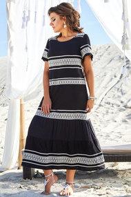 Платье Vittoria Queen 13693 черный с белым