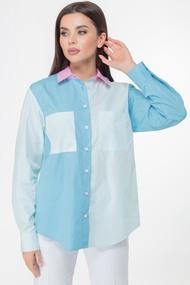 Блузка Anelli 1005 Бирюзово-розовые тона