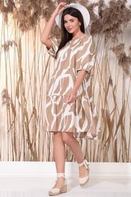 Платье Faufilure 1171 Бежевый и белый