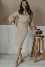 Комплект юбочный Olga Style М408 Бежевый